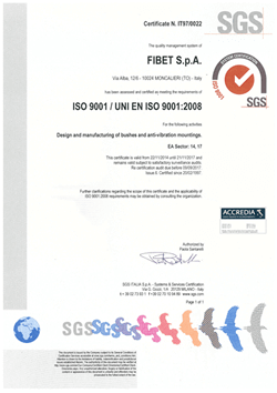 SGS ISO 9001:2008 Certificate